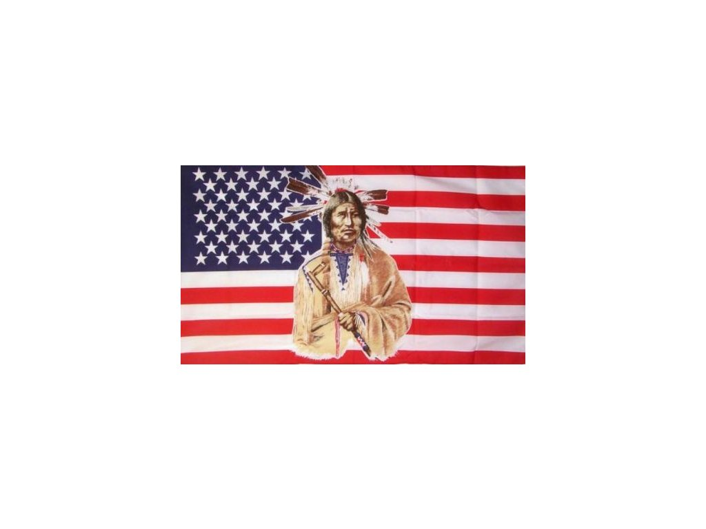 Vlajka USA Indian 90x150cm č.82