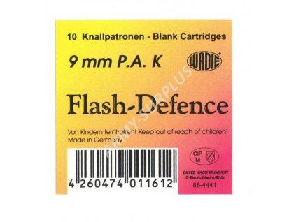 Náboj Flash Defence WADIE  akustický s oslňujícím zábleskem 9mm P.A. K  10ks