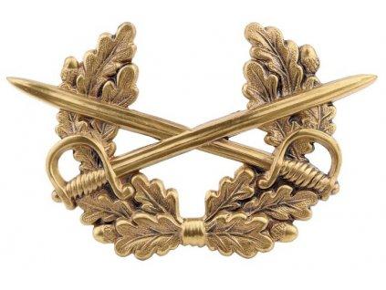 Odznak na čepici BW (Bundeswehr) meče bronz