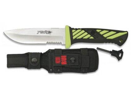 Nůž s křesadlem RUI 31941 YOWIE energy zelený