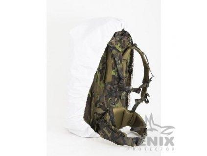 Maskovací převlek  bílý zimní na batoh 60l nepromokavý potah (povlak,obal,převlek) AC-105-WH
