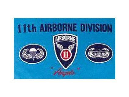 Vlajka 90x150cm 11th airborne č.193