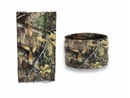 Nákrčník (multifunkční šátek) Barbaric Albainox camouflage tree hunter