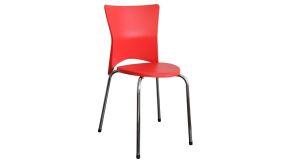 Stoličky kovové plastové