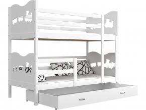 detska poschodova postel MAX biela