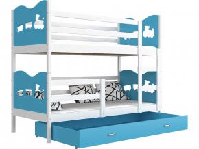 detska poschodova postel MAX biela modra