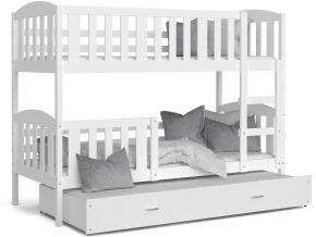 detska poschodova postel s pristelkou KUBUS 3 biela