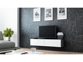 RTV stolík VIGO 140 sivá / biela