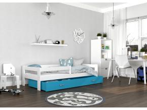 detska postel HUGO biela modra