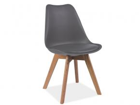 moderna siva jedalenska stolicka KRIS buk siva