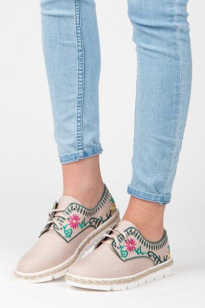 Dámska obuv s výšivkou K1715005RO